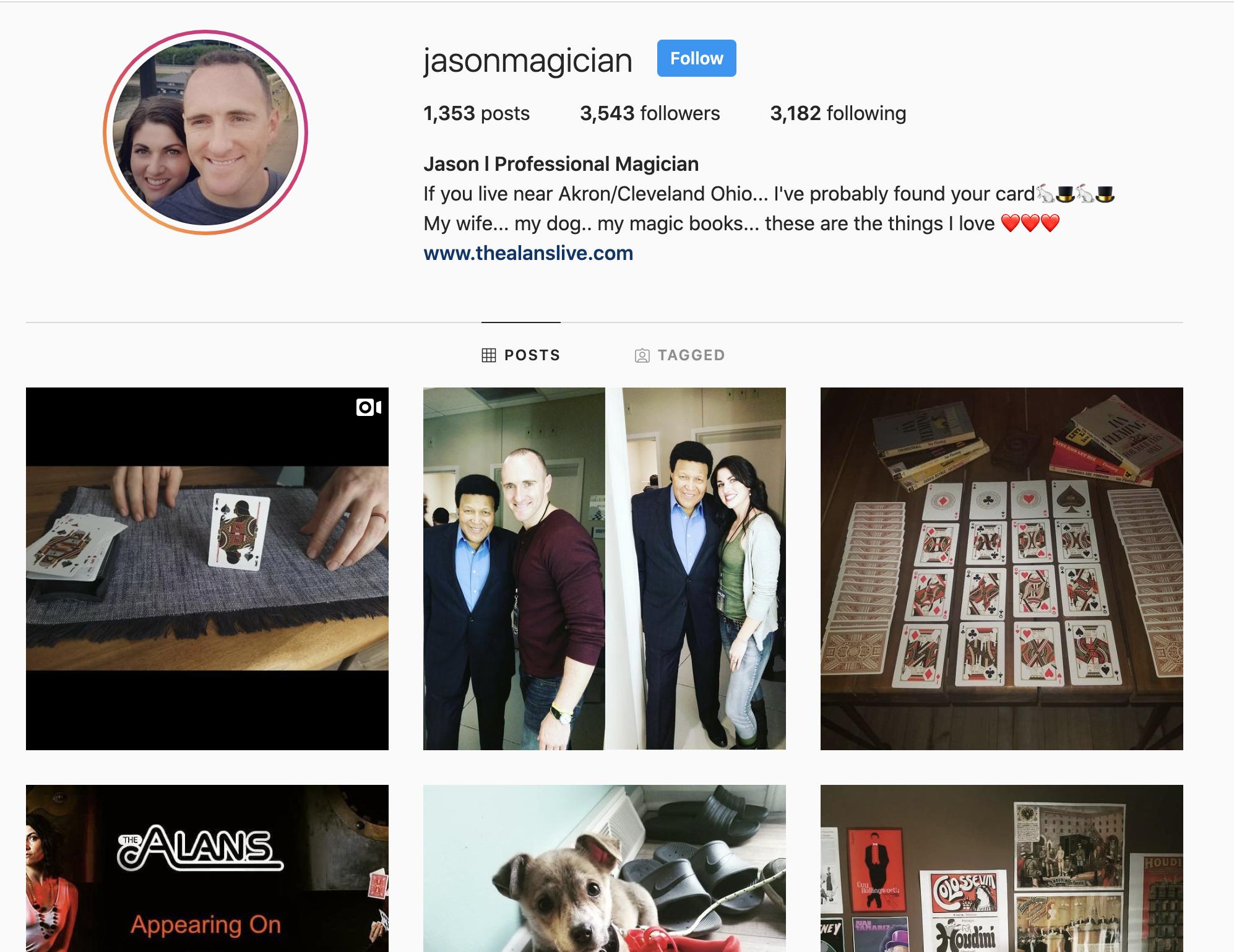 Jason Magician Instagram